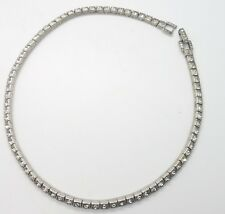 Art Deco Rhinestone Choker Necklace Vintage Antique Sterling Silver 925 Otis