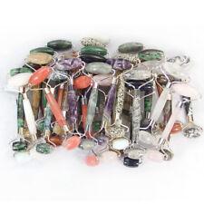 Natural Gemstone Crystal Healing Massager Roller Facial Beauty Gua Sha Massage