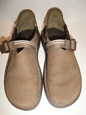 e475f5c87815 Chaco Taupe Leather Loafer w Strap Women s Shoe Size 7.5M