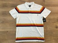 O'NEILL Dungeon Polo SS Shirt White Multi-Color SZ M ( SU0103105 ) NWT!