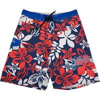 BILLABONG- Mens Size 34 Red White Blue AOP Floral Board Shorts Swim Surf Trunks
