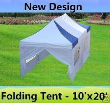 10' x 20' Pop Up Canopy Party Tent Gazebo Ez - Blue White - E Model