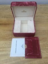 GENUINE OMEGA WATCH BOX RED & GOLD SEAMASTER SPEEDMASTER