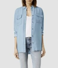 "*NEW ""ALLSAINTS ""MARBLE BAY"" SHIRT CLR SKY Sz ""6"" US (UK 10) NWT - ORIG $178.00!"