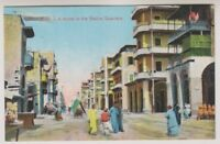 Egypt postcard - Port Said, A Street in the Native Quarters (A25)