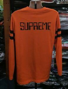 Rare FW13 Supreme Digi Football Top M medium orange long sleeve rayon jersey 80