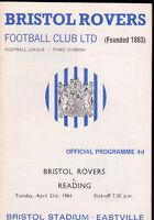 1963/64 BRISTOL ROVERS V READING 21-04-1964 Division 3