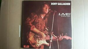 "RORY GALLAGHER       ""LIVE! IN EUROPE""       VINYL LP RECORDS"