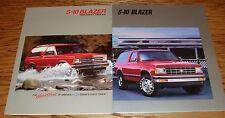 Original 1988 1989 Chevrolet S-10 Blazer Sales Brochure Lot of 2 88 89 Chevy