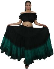 100% cotton Belly Dance gypsy skirts Malaysia Belly dance triple color