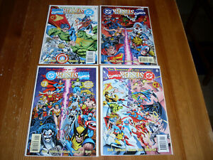 DC vs Marvel 1 2 3 4, NM/M Lot, 1996, Showdown of the Century, Batman, Wolverine