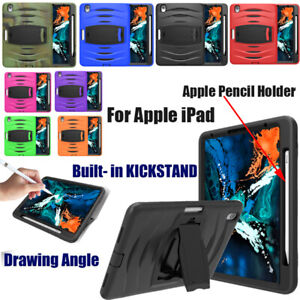 """With Pencil Holder 3-layer Shockproof Stand Case For iPad Pro 11"""" 12.9"""" 2018"""