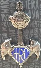 Hard Rock Cafe LAS VEGAS 2016 Super Guitar PIN on CARD LE 300 Batman & Superman!