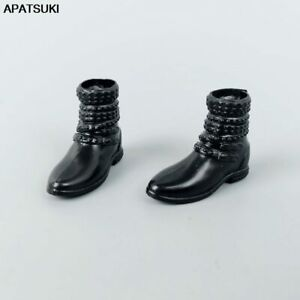 """Black Flat Shoes Booties For 11.5"""" Doll Fashion Short Boots For Blythe 1/6 Toys"""