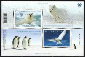 Canada 2009 MNH SS, Preserving Poles Birds Penguins Animals, Polar Bear