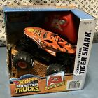 Hot Wheels Monster Trucks Radio Control Tiger Shark 1:43 | New in Box (Damaged)
