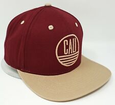CALI Snapback Cap Hat California Republic 100% Cotton OSFM New