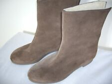 MORLANDS BROWN SUEDE & SHEEPSKIN  ANKLE BOOTS SIZE 3 3.5 SUPERB CONDITION