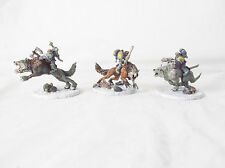 Warhammer 40k-Space Wolves Thunderwolf Cavalry-Set of3-Custom Painted by Pizzazz