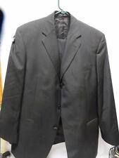 Men's Black Pinstripe 100% Wool Hugo Boss Einstein/Sigma Suit 42S 3 button