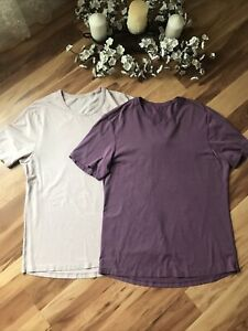 Lululemon Men's T-Shirt Size Large ? Lot Of 2 Pink/ Purple