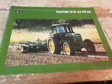 1987 JOHN DEERE 78 to 144 PTO kW Tractor  Original  Australian Sales Brochure