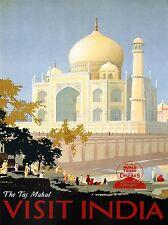 TRAVEL Canadian Pacific Taj Mahal India Canada Vintage Pubblicità POSTER 2341pylv
