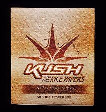 Full Box 50 Packs KUSH Ultra Fine Rice King Size Slim Cigarette Rolling Papers
