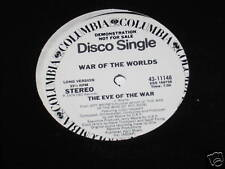 "War of The Worlds  12"" PROMO Record Eve of The War NM"