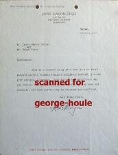 GENE MORGAN -  LETTER - AUTOGRAPH  -1937 - DIETRICH - CARY GRANT - BLONDE VENUS