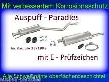 Abgasanlage Auspuff Opel Astra F 1.4 / 1.6 / 1.8 & 2.0 STUFENHECK bis 12/96 +Kit