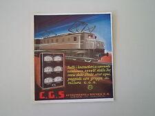 advertising Pubblicità 1934 GRUPPI DI MISURA PER TRENI CGS C.G.S. - MONZA