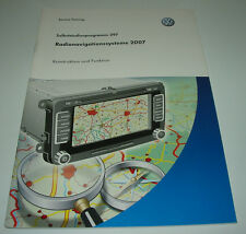 SSP 397 VW Volkswagen Radio Navigation System 2007 RNS 300 510 Stand 09/2007