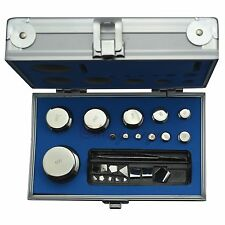 F2 Class 1mg-500g Stainless Steel Calibration Weight Kit Set for Scale & Balance