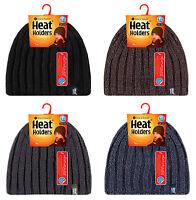 Heat Holders - Homme chaud hiver froid polaire fourré nervuré chapeau thermique
