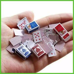 Carte da gioco 52 Mini Mazzo Poker in Miniatura per Giochi di prestigio e Magia