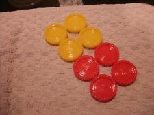 ORIGINAL MB Connect 4 four game REPLACEMENT Counters  4 Yellow/4 Red, FROM 2004
