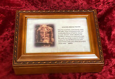 Holy Face of Jesus Musical Keepsake Box - Shroud of Turin - How Great Thou Art