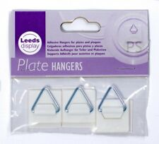 3 x Small Self Adhesive Plate Picture Hanger Sticky Pad & Hook : Leeds Display