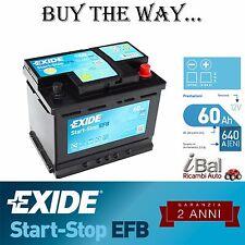 BATTERIA EXIDE START-STOP EFB - EL600 - 60AH- 640EN - VAUXHALL CORSA MK III 1.3