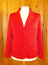 KALEIDOSCOPE scarlet red white pinstripe tailored suit jacket BNWT 20 46