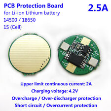 2.5A 1S 3.7V cell Li-ion Lithium 14500 18650 Battery Charge PCB Protection Board