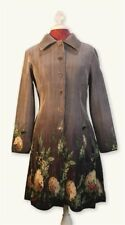 Victorian Trading Co NWD Silver Gray Hydrangea Floral Coat Dress XL 13A