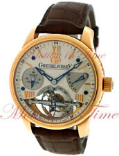 Greubel Forsey Double Tourbillon 30° GF 02 Vision Silver Dial Rose Gold on Strap