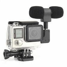 Side Open Skeleton Housing Protective Case+Microphone kit For GoPro Hero 4 3+