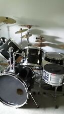 Pearl 8-Piece Export Drum Set with Hardware and 10+ Cymbals - Black