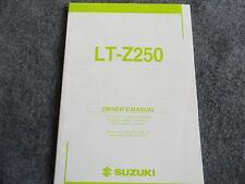 2003 2004 Suzuki LT-Z250 Owners Manual LT Z 250