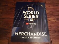 2017 World Series Astros Dodgers Game Stadium Used Merchendise Poster YouTube