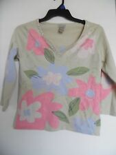 Sigrid Olsen woman Beaded V Neck blouse top sz M