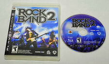Rock Band 2 Black Label (Sony PlayStation 3, 2008) In Box